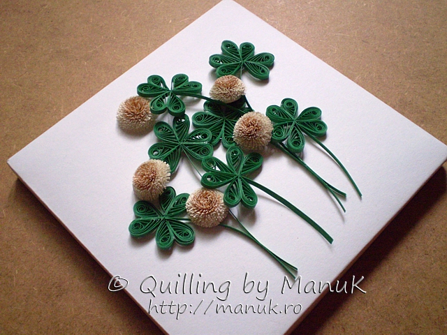 Back to the Basics III – Quilled White Clover with Tutorial