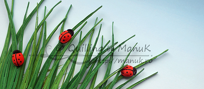Quilled Ladybugs in the Grass Tutorial