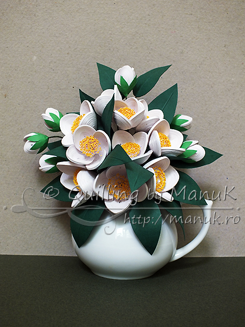 Paper quilling flower vase designs flowers healthy quilled jasmine flowers bouquet in a vase a cer of fragrant flowers paper quilling quilled jasmine flowers bouquet in a vase quilling by manuk mightylinksfo