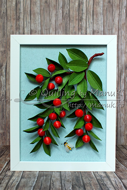Quilled Cherries Tutorial | Quilling by ManuK