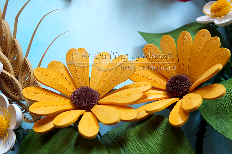 Quilled Summer Heart - Daisies