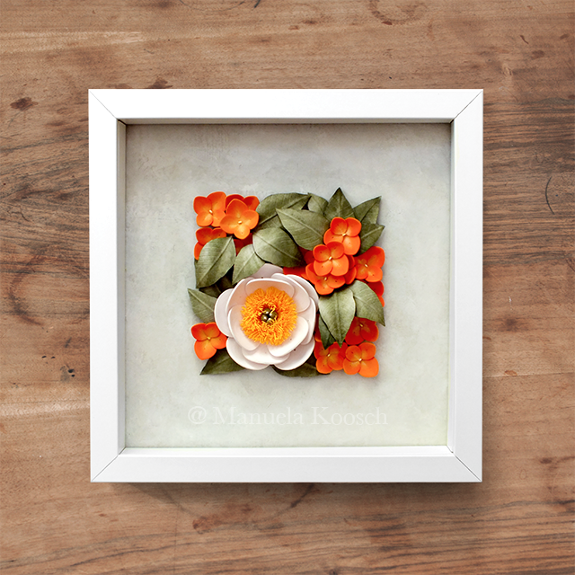 Quilled Peony Wall Art
